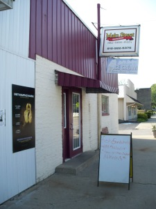 This is the diner in Lynnville, Ind., that saved us all from starvation on Day 1 of the trip.