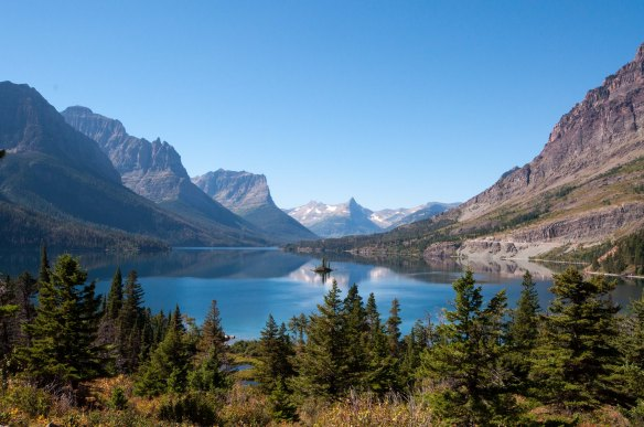 This little slice of heaven is St. Mary's Lake in Glacier NP, one of the many places we visited on this trip.