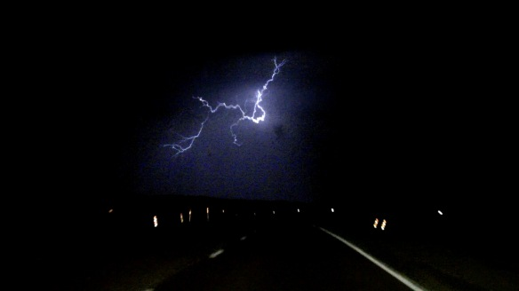 This photo is a freeze frame from one of my favorite lightning strikes from the Wyoming lightning storm. We didn't know it at the time, but this storm on our first night was a precursor of things to come on the trip.