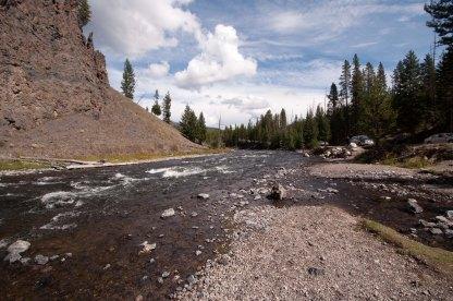 creek rock sky