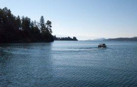 Flathead Lake w boat