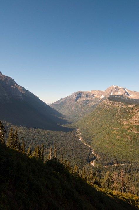 glacier valley w river vert