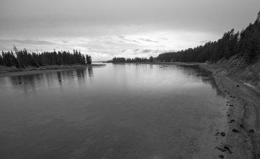 yellowstone river 2 bw