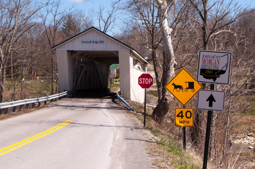 Next up, bridge #3: Harshaville.  This bridge was one of the few in the area to escape the torch during a Civil War Raid.