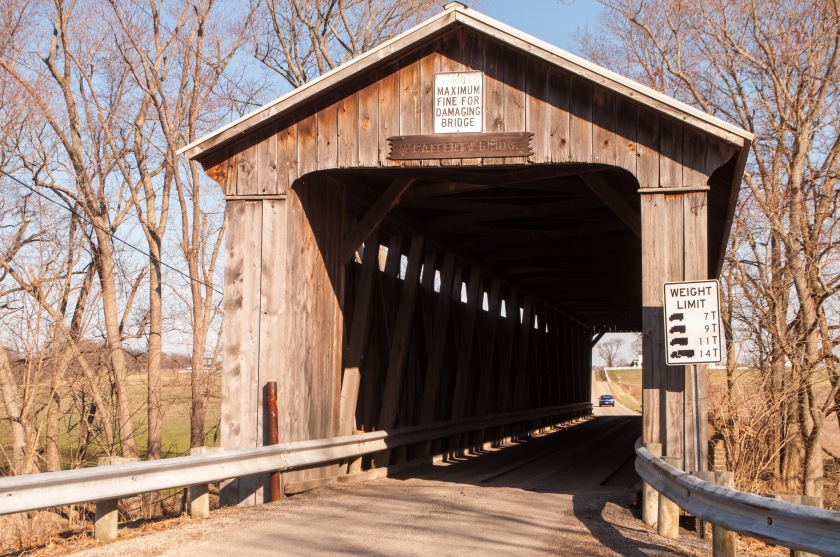 We hit McCafferty Bridge sixth. It was quite a busy one-lane bridge. It was built in 1877 and is 160 feet long.