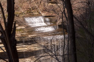 This is your view of Big Clifty Falls from beneath the overlook.