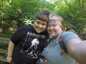 Hiking is always better with friends! This is Karli and me (looking all sexy in my Buff, a.k.a. sweat catcher. Because if there is one thing I do well, its sweat.)