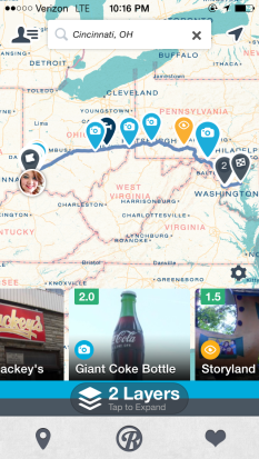 I'm using Roadtrippers to help plan my upcoming road trip to Washington, D.C. and Annapolis, Md.