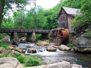 The Glade Creek Grist mill was rebuilt in 1976 in Babcock State Park.
