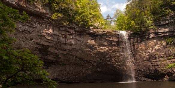 The ruggedness of Foster Falls gets it a six out of seven on the Gus Scale. It's a great hike to the falls and swimming hole, but make sure you wear proper footwear and have good knees and ankles.