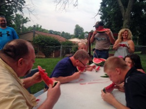Watermelon eating contest!
