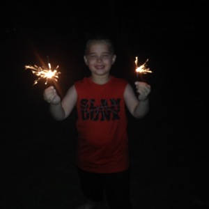 Sparklers are still one of my favorite things!