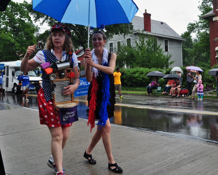 The Northside Fourth of July Parade is legendary in Cincinnati. This picture is from a few years ago when I attended.